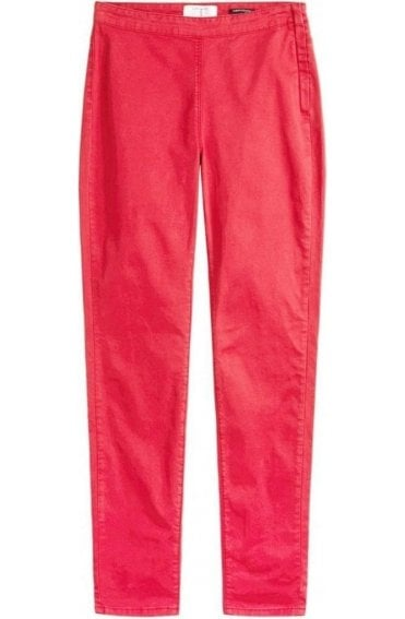 Red Slim Fit Jeggings