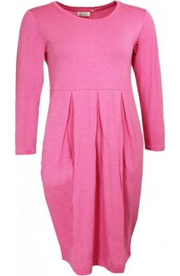 Holly Flamingo Pink Jersey Dress