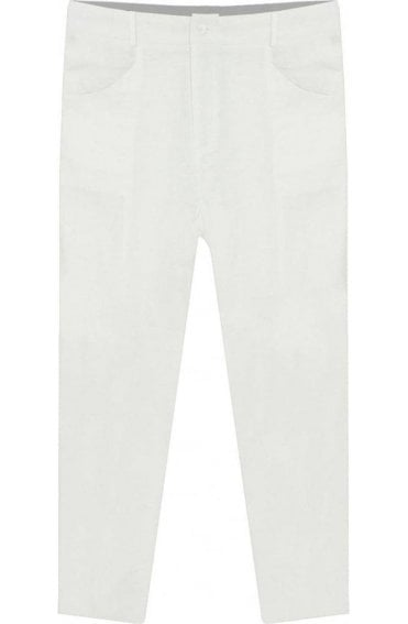Page white Crop trouser