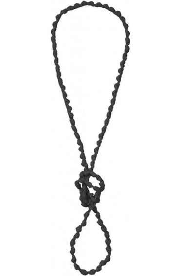 Asti Black Knot Necklace