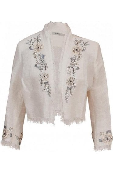 Woven Beaded Detail Jacket