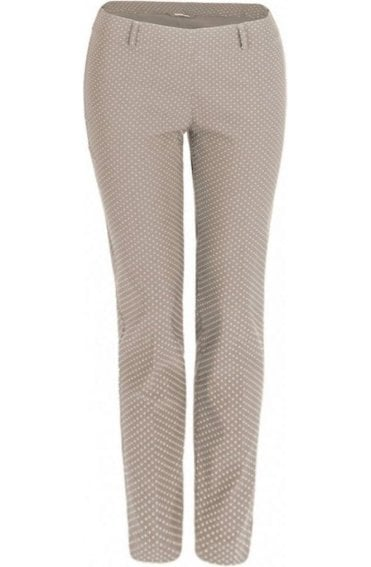 Sand Small Spot Print Trousers