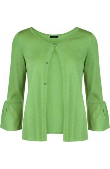 Green Bell Sleeve Cardigan