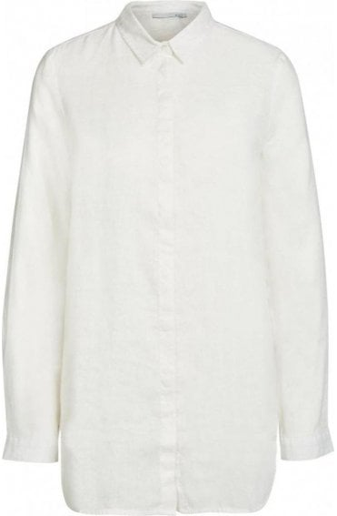 Off White Linen Blouse