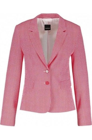 Pink & White Patterned Jacket