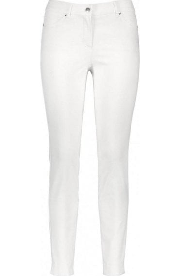 Off White Slim Fit Jeans