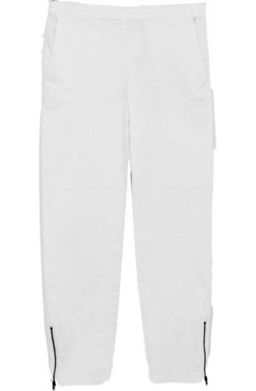 Padme White Crop Trousers