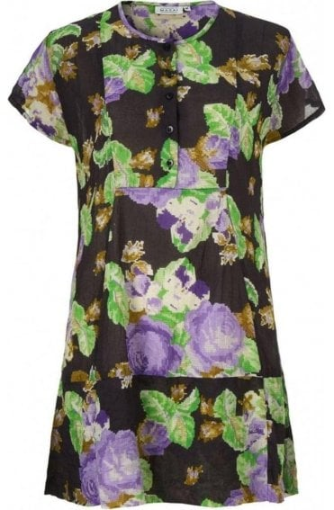 Ge Abstract Floral Print Tunic