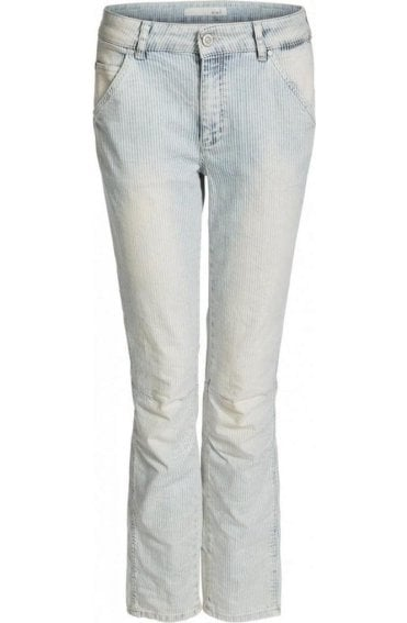 Light Denim Fine Striped Jeans