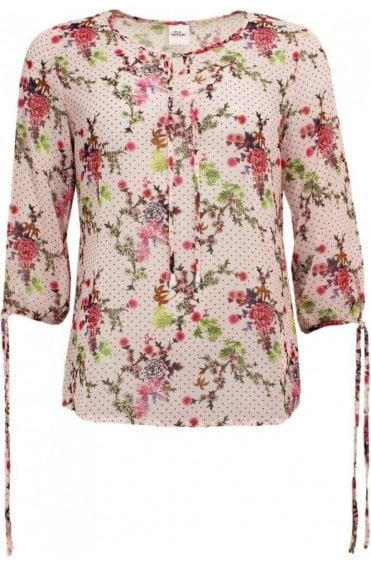 Semi Sheer Floral Blouse