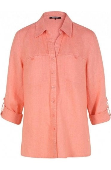 Peach Linen Blouse