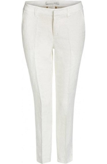 Off White Linen Trousers