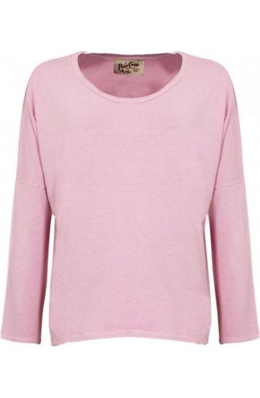 Pink Over Sized Jersey Top