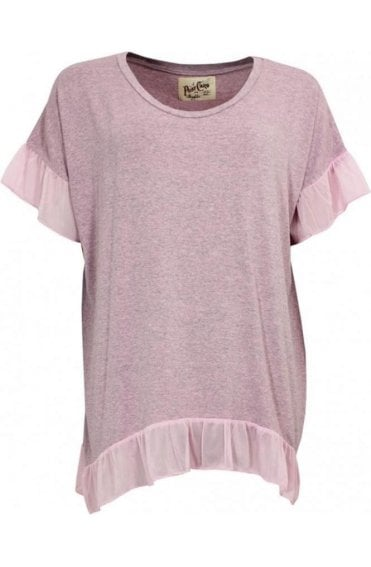 Pink Marl Frilled Detailed Top