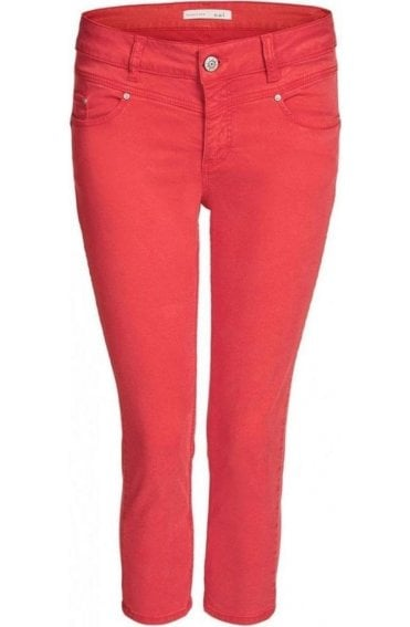 Red Cropped Newport Trousers