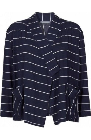 Striped Jersey Jacket