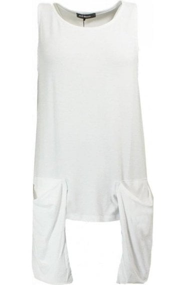 White Slouch Pocket Top
