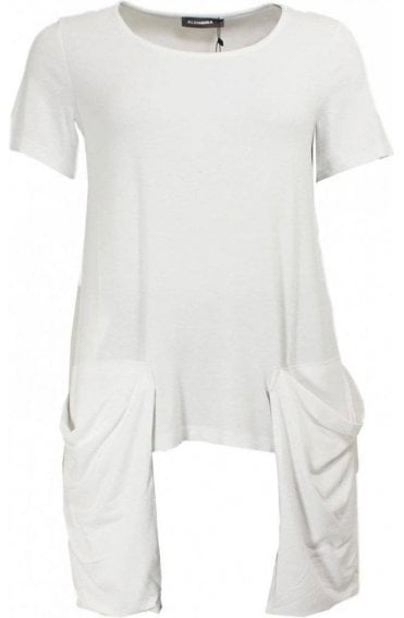 White Slouch Pocket T-Shirt