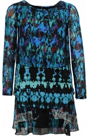 Tona Layered Patterned Dress