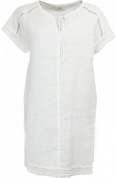 White Linen Front Tunic