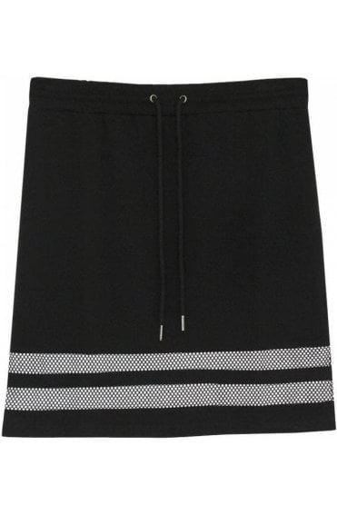Black Striped Panel Skirt