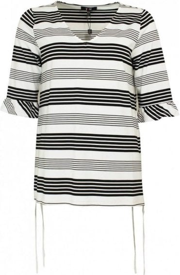 Black & White Striped Top