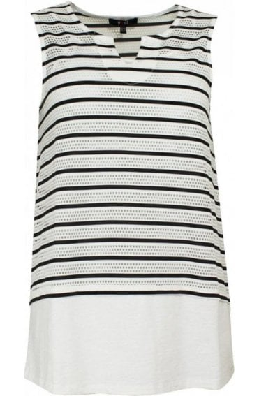 Black & White Striped Layered Top