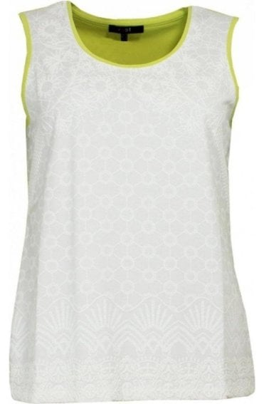 Contrasting Embossed Design Top