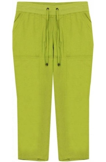 Lime Green Cropped Trousers