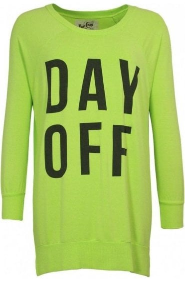 Lime Green Day Off Sweatshirt