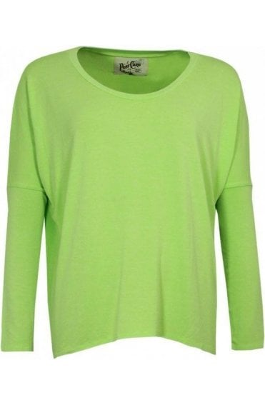 Lime Green Oversized Jersey Top