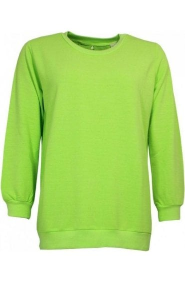Lime Green Tie Back Sweatshirt