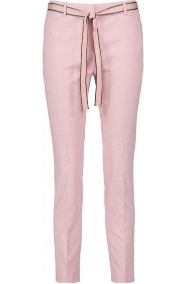 Pink Slim Leg Trousers