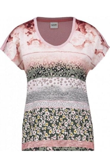Silky Floral Front Design Top