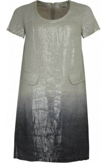 Metallic Finished Shift Dress