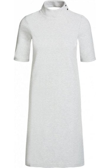 Light Grey Fine Ribbed Dress