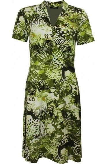 Green Bold Print Dress