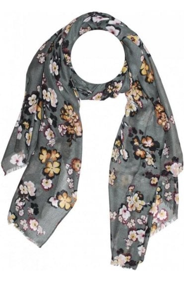 Evergreen  Floral Scarf