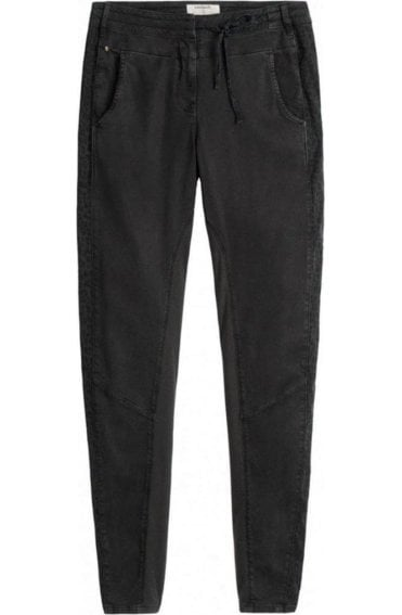 Grey Tie Waist Trousers