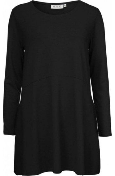 Grizelda Black Jersey Tunic