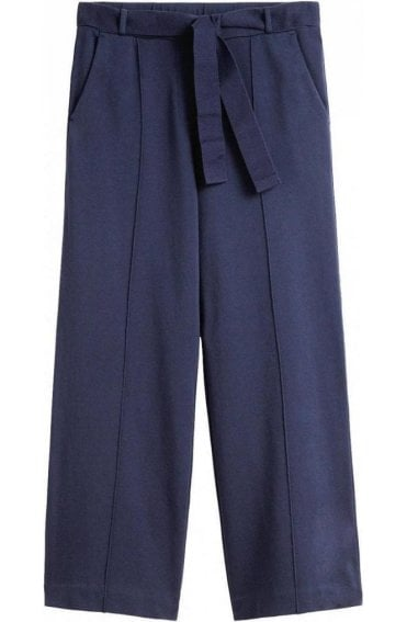 Navy Wide Leg Culottes