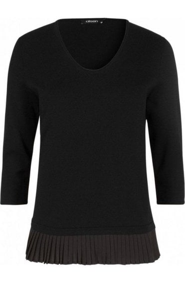 Black Layered Effect Sweater