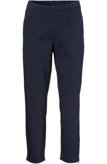 Padme Navy Cropped Trousers
