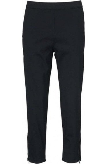 Padme Black Cropped Trousers