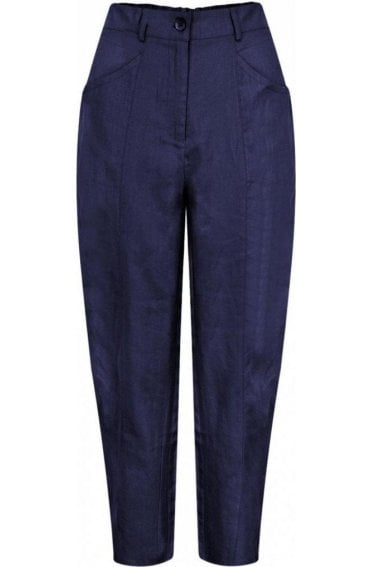 Page Navy Crop Trousers