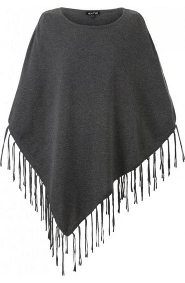 Grey tasseled Poncho