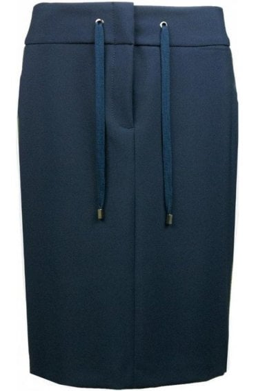 Navy Fitted Skirt