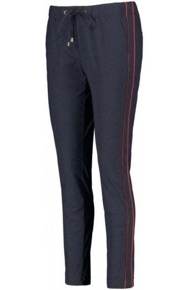Navy Casual Fit Trousers
