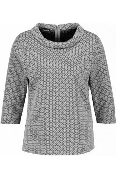 Grey Embossed Patterned Top