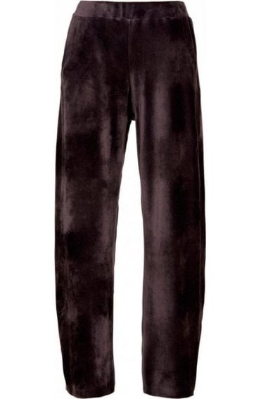 Wide Leg Velvet Trousers